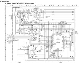 Sony XR1800 Schematic Diagram (Main  Front) in PDF