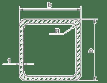 Кухи квадратни профили - размери и тегла БДС EN 10219