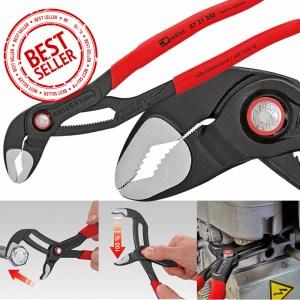 Клещи раздвижни с функция гаечен ключ Cobra® QuickSet фосфатирани, сиви 250 mm, 87 21 250, KNIPEX