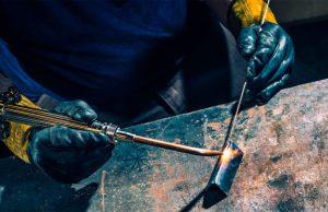 Газовое пламя - химические методы сварки