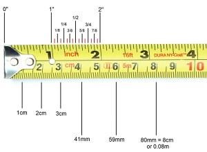 Маркировка на измервателната рулетка
