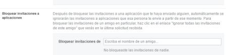 bloquerar invitaciones Facebook