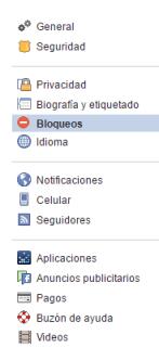 Bloqueos Facebook