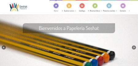 pagina web para papeleria Seshat de Madrid