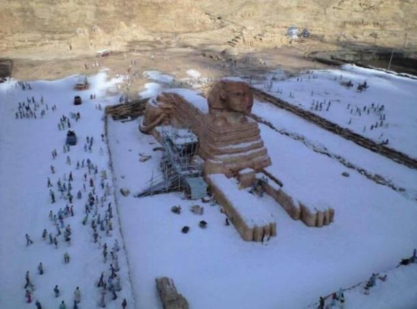 Χιονισμένο Κάιρο μετά από 112 χρόνια