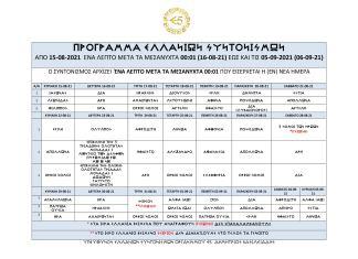 ΣΤΙΣ 15-08-2021 ΑΡΧΙΖΕΙ ΕΝΑΣ ΝΕΟΣ ΚΥΚΛΟΣ ΕΛΛΑΝΙΩΝ ΣΥΝΤΟΝΙΣΜΩΝ