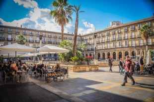 Plaza Nueva in Bilbao is a hot-spot for Pintxos and a pleasant watering hole for all ages