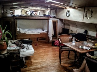 In a houseboat you are in a confined space, and that can be both cosy and crazy