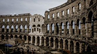Impressive Pula in the south with a 2000-year old roman amfitheatre but crazy parking issues