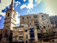 The skyline of Valletta