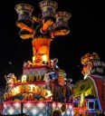 """The float given the most point is awarded """"King Carnival"""" and has the honour of being the first float in next years procession"""