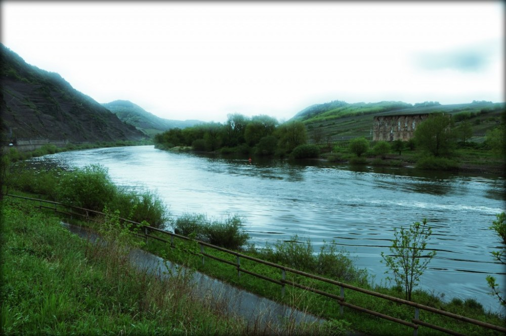 Moselle river cycle route