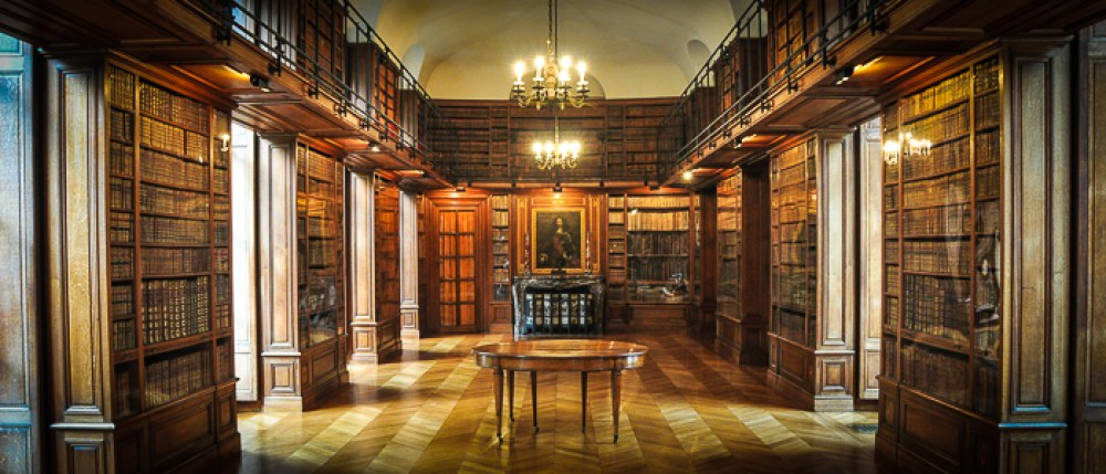 belgium-chateau-beloeil-library