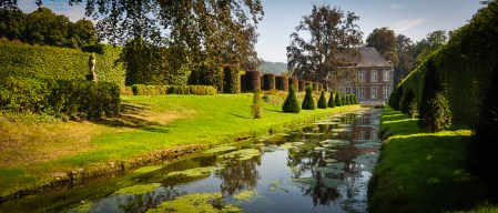 The Jardins d'Annevoie, boast 4 springs, 48 hectares of park, 50 water features, 200 year old trees and 250 years of water flowing through the gardens