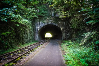 The old railway tracks are easy, beautiful and exciting!