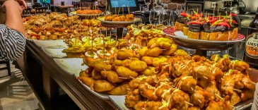 There's something for every liking in a pintxos buffet