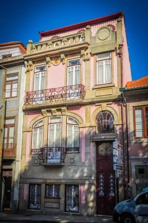 When you exit at Rua de Dom Manuel II, check out the charming Art Nouveau building just opposite