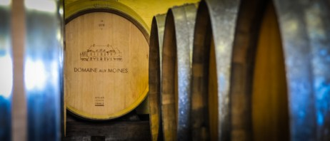 Domaine aux Moines is a place, where wine is a feminine, plural word