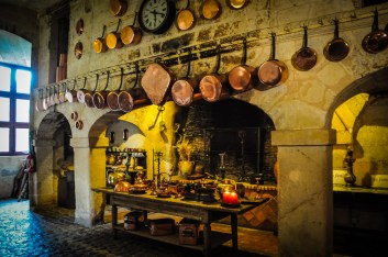 The kitchen is a testament to its medieval past