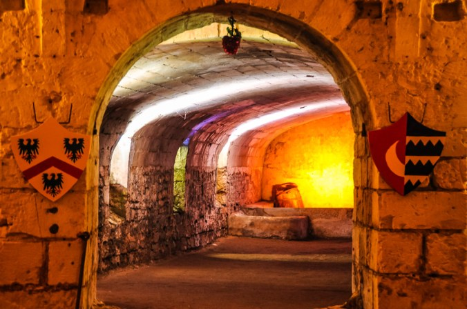 """The guided tour will take you to the cellar, where the wine was made and the Wine Brotherhood in the beginning of the 20th century should swear to a portrait of Rabelais: """"When my glass is full, I empty it. When it is empty, I complain."""""""