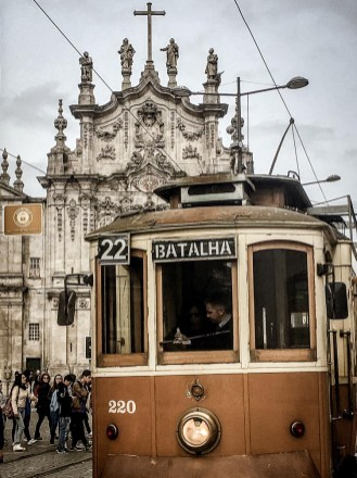 They have old-fashioned trams as well in Porto