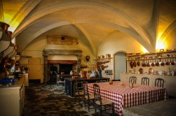 Established in the remains of the Medieval castle, the kitchen displays equipment from the beginning of the 20th century. Photo courtesy of Château de Serrant