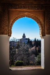 View from Generalife to Alhambra - all in Granada