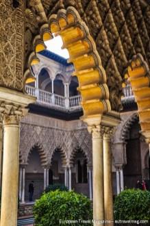 Details of the arches framing the Patio de las Doncellas