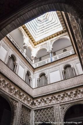 While Patio de las Doncellas was a public space, the Patio de las Muñecas was a private one