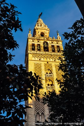 The bell tower - Giralda - with its Moorish base and Renaissance top