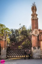 """The gatehouses have that special """"Gaudí touch"""""""