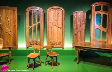Doors and chairs designed by Gaudí