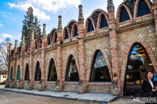 The parabolic arches speak their own architectural language: Art Nouveau