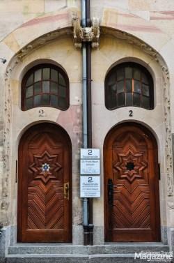 """Beautiful twin doorway in the """"Altstadt"""""""