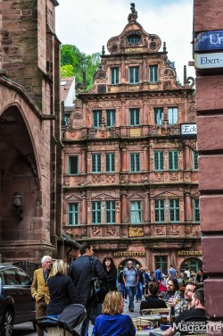 """Hotel Zum Ritter St. Georg"" is a wonderful Renaissance building next to ""Heiliggeistkirche"""