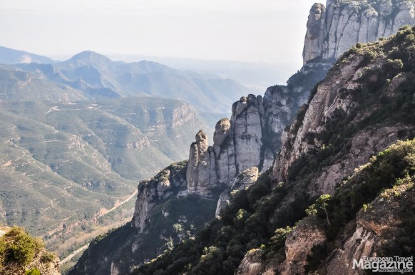 The Montserrat mountains offer spectacular views and hiking options