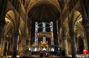 Inside the Royal Collegiate Church of Roncesvalles