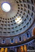 """The so-called """"oculus"""" is the main source of light in this ancient temple is the giant hole in the center of the dome"""