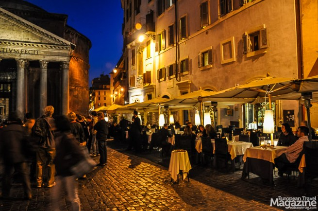The historic centre of Rome is packed with romantic restaurants