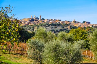 Surrounded by vineyards and olive trees, this landscape has fathered some of the world's best wines