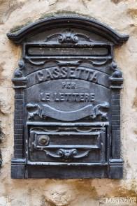 Even the letterboxes are pretty in San Gimignano
