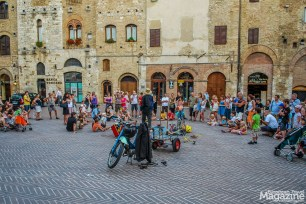 In the summer, the Piazza is an open-air stage for street performers