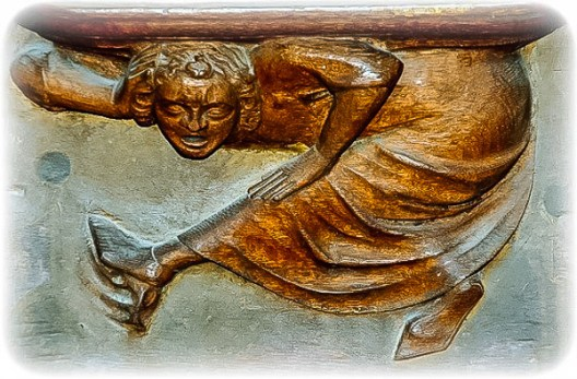 Dancing woman, Magdeburg Cathedral, Germany. Courtesy misericords.co.uk