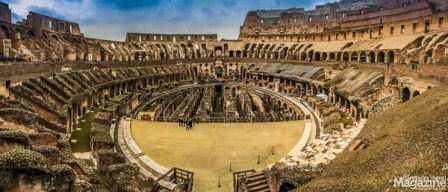 "Amphi-theatre means ""both-sided theatre"", because the Roman theatres were normally semicircular, but when you put two of them together, voila: you have an amphitheatre!"