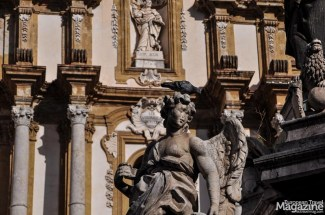 The Baroque façade of Church of Saint Dominic was completed in 1726