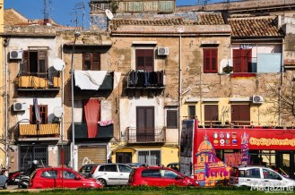 Typical street view in Palermo
