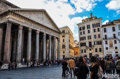 Pantheon means Temple of God and it used to function as Roman temple before it was converted into a Christian church in 609.