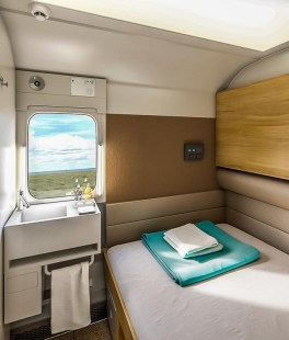 The renewed Caledonian sleeper carriages offer berths with more space and updated amenities. Photo courtesy of Serco Services Ltd