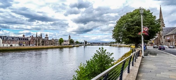 The River Ness bisects the city. Photo by Patricia Tse-Laurence