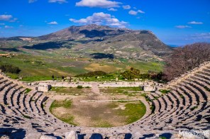 The Roman Theatre of Segesta boasts one of the best backdrops ever seen in any theatre!
